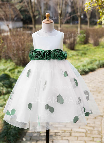 Ball Gown Tea-length Flower Girl Dress