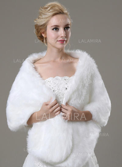 Shawl Fashion Faux Fur Other Colors Wraps (013149709)
