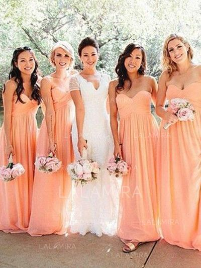 Floor-Length Sweetheart A-Line/Princess Chiffon Bridesmaid Dresses (007211706)