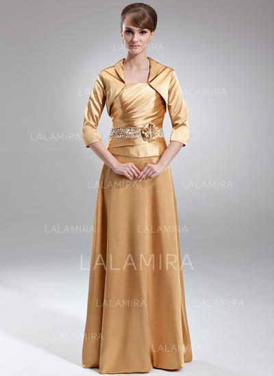 A-Line/Princess Strapless Charmeuse Stunning Mother of the Bride Dresses (008211024)
