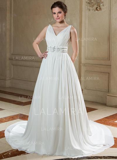 Beautiful General Plus Sweetheart A-Line/Princess Chiffon Wedding Dresses (002196884)