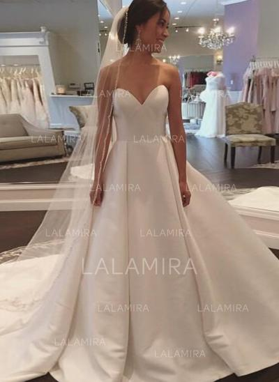 Ball-Gown With Delicate Satin Wedding Dresses (002148111)