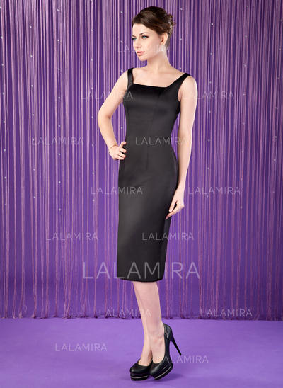 Newest Satin Square Neckline Sheath/Column Mother of the Bride Dresses (008006311)