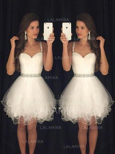 Tulle Sweetheart A-Line/Princess Sleeveless Cocktail Dresses (016145311)