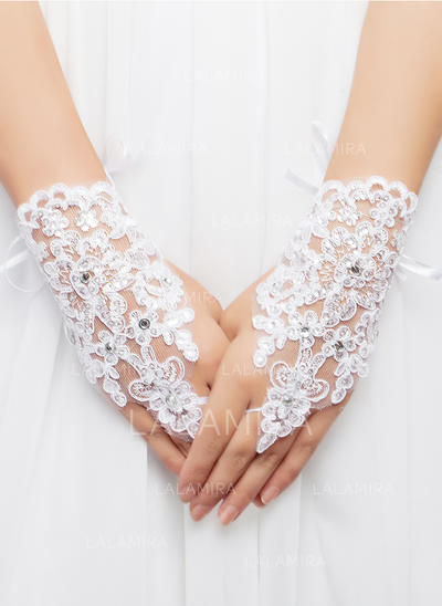 Lace/Voile Ladies' Gloves Wrist Length Bridal Gloves Fingerless Gloves (014192008)