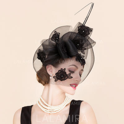 Cambric With Rhinestone Fascinators Beautiful Ladies' Hats (196194043)