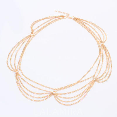 """Forehead Jewelry Special Occasion/Casual/Outdoor/Party Alloy 22.44""""(Approx.57cm) 2.76""""(Approx.7cm) Headpieces (042155241)"""