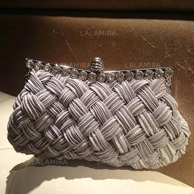 Clutches/Wristlets/Fashion Handbags Ceremony & Party Crystal/ Rhinestone Clip Closure Charming Clutches & Evening Bags (012186460)