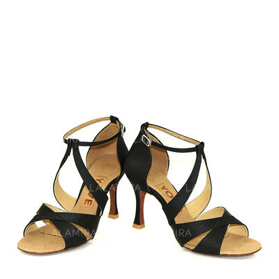 Women's Latin Satin Dance Shoes (053183395)