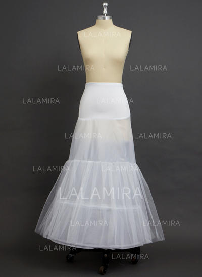 Petticoats Floor-length Tulle Netting/Polyester/Spandex A-Line Slip 2 Tiers Petticoats (037190724)