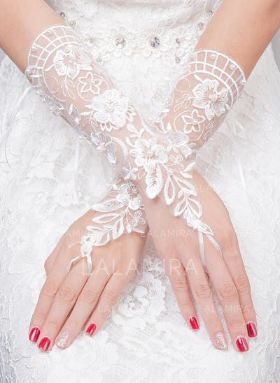 Tulle Ladies' Gloves Bridal Gloves Fingerless 30cm(Approx.11.81inch) Gloves (014192227)