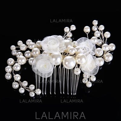 "Combs & Barrettes Wedding/Party Crystal/Imitation Pearls/Silk Flower 4.72""(Approx.12cm) 3.15""(Approx.8cm) Headpieces (042158176)"