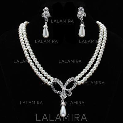 Jewelry Sets Pearl Rhinestone Lobster Clasp Earclip Wedding & Party Jewelry (011160355)