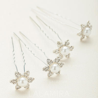 """Hairpins Wedding/Special Occasion/Party Crystal/Alloy 0.78""""(Approx.2cm) 0.78""""(Approx.2cm) Headpieces (042154606)"""