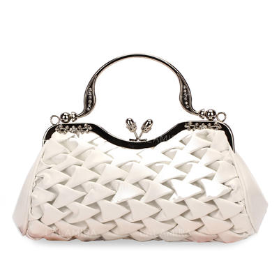 Wristlets Wedding/Ceremony & Party PU Kiss lock closure Gorgeous Clutches & Evening Bags (012184279)