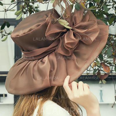 Señoras' Hermoso Organdí con Flores de seda Disquete Sombrero/Sombreros Playa / Sol (196123856)