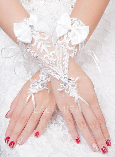 Tulle Ladies' Gloves Bridal Gloves Fingerless 20cm(Approx.7.87inch) Gloves (014192215)