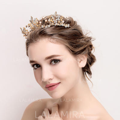 """Tiaras Wedding/Special Occasion Alloy/Imitation Pearls 14.17""""(Approx.36cm) 1.77""""(Approx.4.5cm) Headpieces (042158353)"""