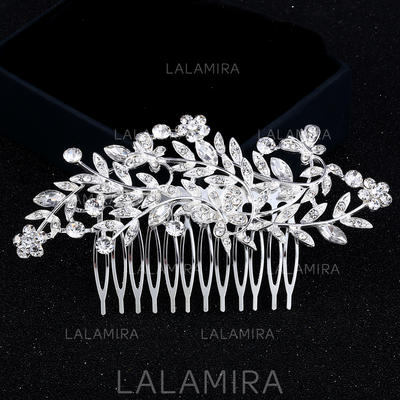 """Combs & Barrettes Wedding/Party Rhinestone/Alloy 4.53""""(Approx.11.5cm) 2.36""""(Approx.6cm) Headpieces (042159284)"""