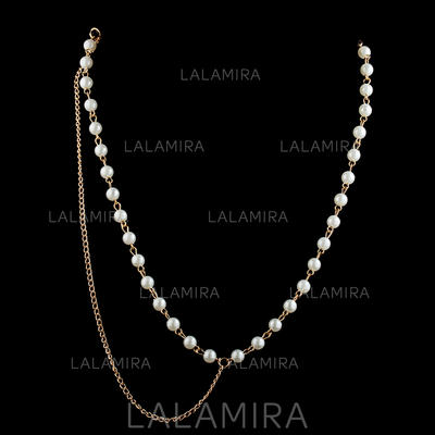 """Forehead Jewelry Special Occasion/Casual/Outdoor/Party Alloy/Imitation Pearls 21.26""""(Approx.54cm) 0.20""""(Approx.0.5cm) Headpieces (042155245)"""