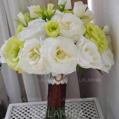 """Bridal Bouquets Free-Form Wedding Satin 9.84"""" (Approx.25cm) Wedding Flowers (123190189)"""