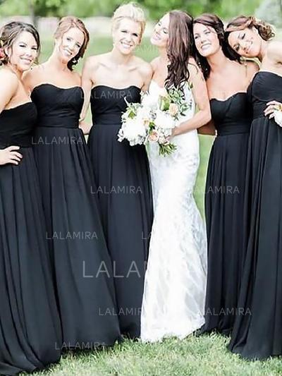 A-Line/Princess Sweetheart Floor-Length Bridesmaid Dresses With Ruffle (007218560)