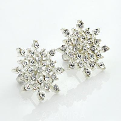 Earrings Alloy/Rhinestones Pierced Ladies' Shining Wedding & Party Jewelry (011166857)