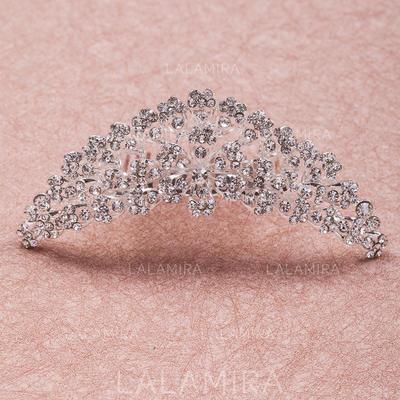 "Tiaras Wedding/Special Occasion Rhinestone/Alloy 4.33""(Approx.11cm) 1.50 ""(Approx.3.8cm) Headpieces (042154613)"