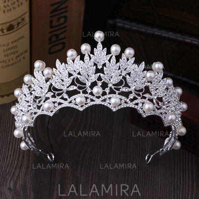 "Tiaras Wedding/Special Occasion/Party Rhinestone/Imitation Pearls 2.76""(Approx.7cm) 5.51""(Approx.14cm) Headpieces (042157330)"