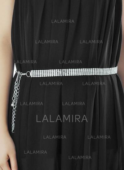 Women Alloy With Rhinestones Belt Beautiful Sashes & Belts (015191362)
