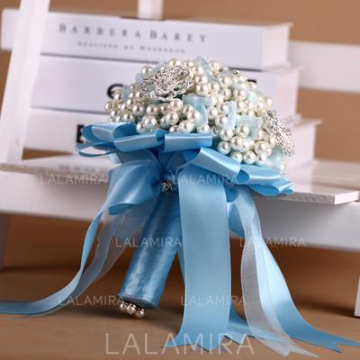 "Bridal Bouquets Round Wedding Satin 9.06""(Approx.23cm) Wedding Flowers (123188882)"