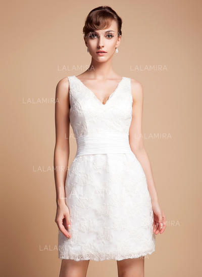 Princess Lace Wedding Dresses With Regular Straps (002011935)
