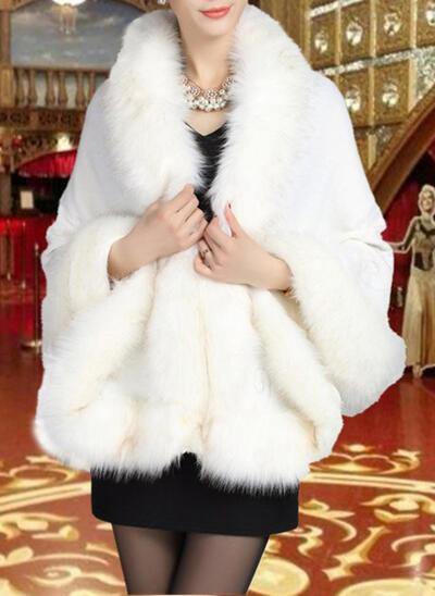 Wrap Fashion Artificial Wool Black Burgundy Ivory Royal Blue White Red Regency Wraps (013150445)