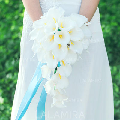 "Bridal Bouquets Cascade Wedding Artificial Silk 9.84""(Approx.25cm) Wedding Flowers (123189140)"