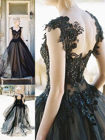 Sweetheart Ball-Gown General Plus Tulle Evening Dresses (017217089)