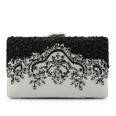 Clutches/Fashion Handbags Wedding/Casual & Shopping PU Clip Closure Fashional Clutches & Evening Bags (012186772)