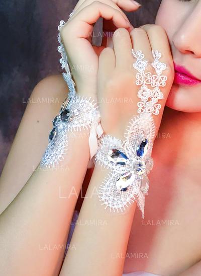 Lace Ladies' Gloves Wrist Length Bridal Gloves Fingerless Gloves (014192177)