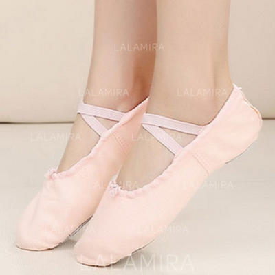 Women's Ballet Flats Pumps Cloth Dance Shoes (053181608)