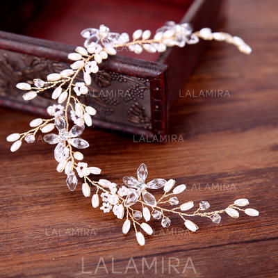 """Headbands Wedding/Special Occasion/Party/Art photography Alloy/Imitation Pearls 11.8""""(Approx.30cm) 1.77""""(Approx.4.5cm) Headpieces (042159925)"""