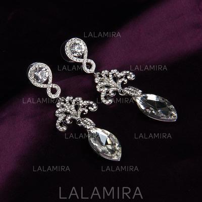 Pendientes Aleación/Diamantes de imitación Rhinestone Perforado Señoras' Joyas de boda & fiesta (011119664)