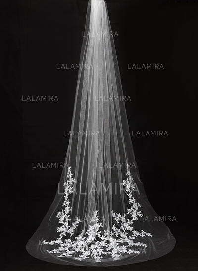 Cathedral Bridal Veils Tulle One-tier Drop Veil With Cut Edge Wedding Veils (006151871)