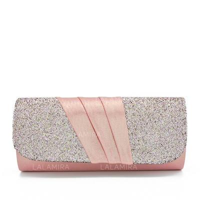 Clutches/Bridal Purse Wedding/Ceremony & Party Silk/Sequin/Composites Snap Closure/Magnetic Closure Elegant Clutches & Evening Bags (012187663)