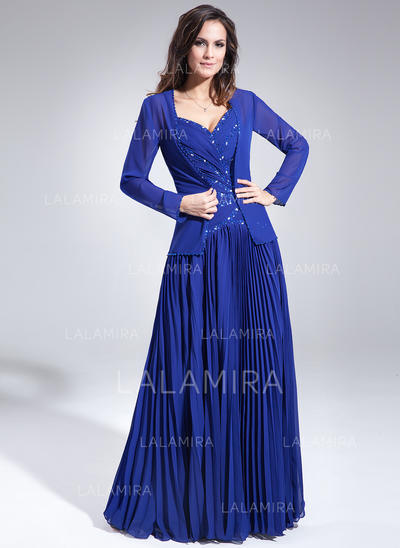 A-Line/Princess Sweetheart Chiffon Magnificent Mother of the Bride Dresses (008213110)