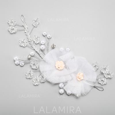 Kaunis Metalliseos/Valetaskua helmi/Silkki kukka Kukkia ja höyhenet (042091565)