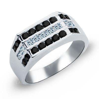 Rings Copper/Zircon/Platinum Plated Ladies' Unique Wedding & Party Jewelry (011165403)