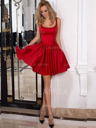 Red A-Line Short Homecoming Dresses Under $100