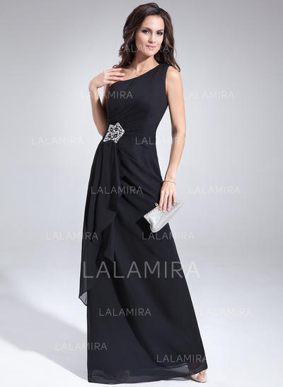 A-Line/Princess One-Shoulder Chiffon Sexy Mother of the Bride Dresses (008211498)