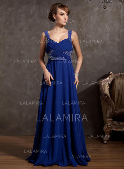 Simple Floor-Length Empire Chiffon Mother of the Bride Dresses (008211062)