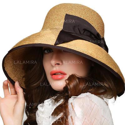 Rattan Straw With Bowknot Straw Hat Beautiful Ladies' Hats (196194710)