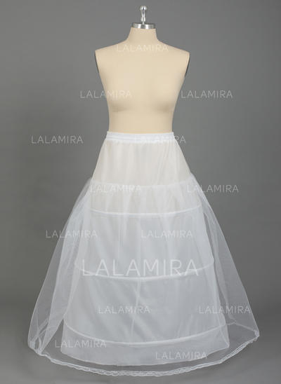 PLUS SIZE Petticoats Nylon/Tulle Netting A-Line Slip 2 Tiers Special Occasion Petticoats (037190787)